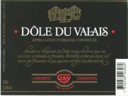 Dôle du Valais AOC 100cl Maurice Gay