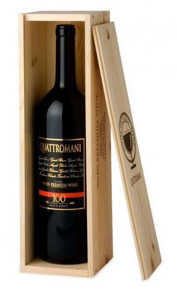 Quattromani Merlot del Ticino Doc 2018 - Magnum 150cl inklusive Holzkiste